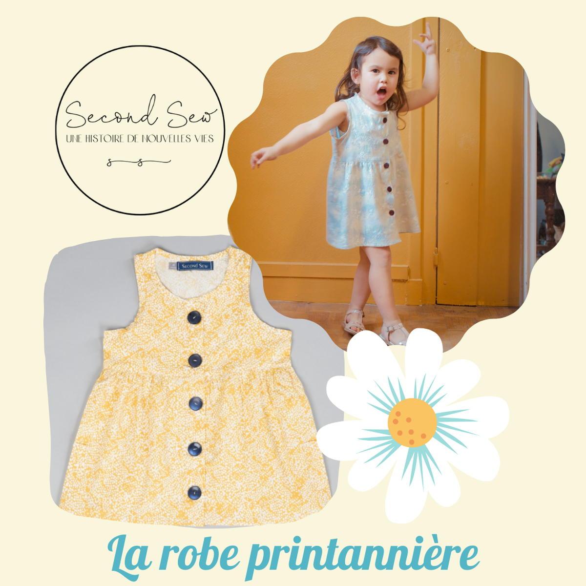 SloWeAre - 6 idées pour habiller les enfants - éco-responsble - robe jaune - Petite fille - Second Sew - - upcycling - Made in France