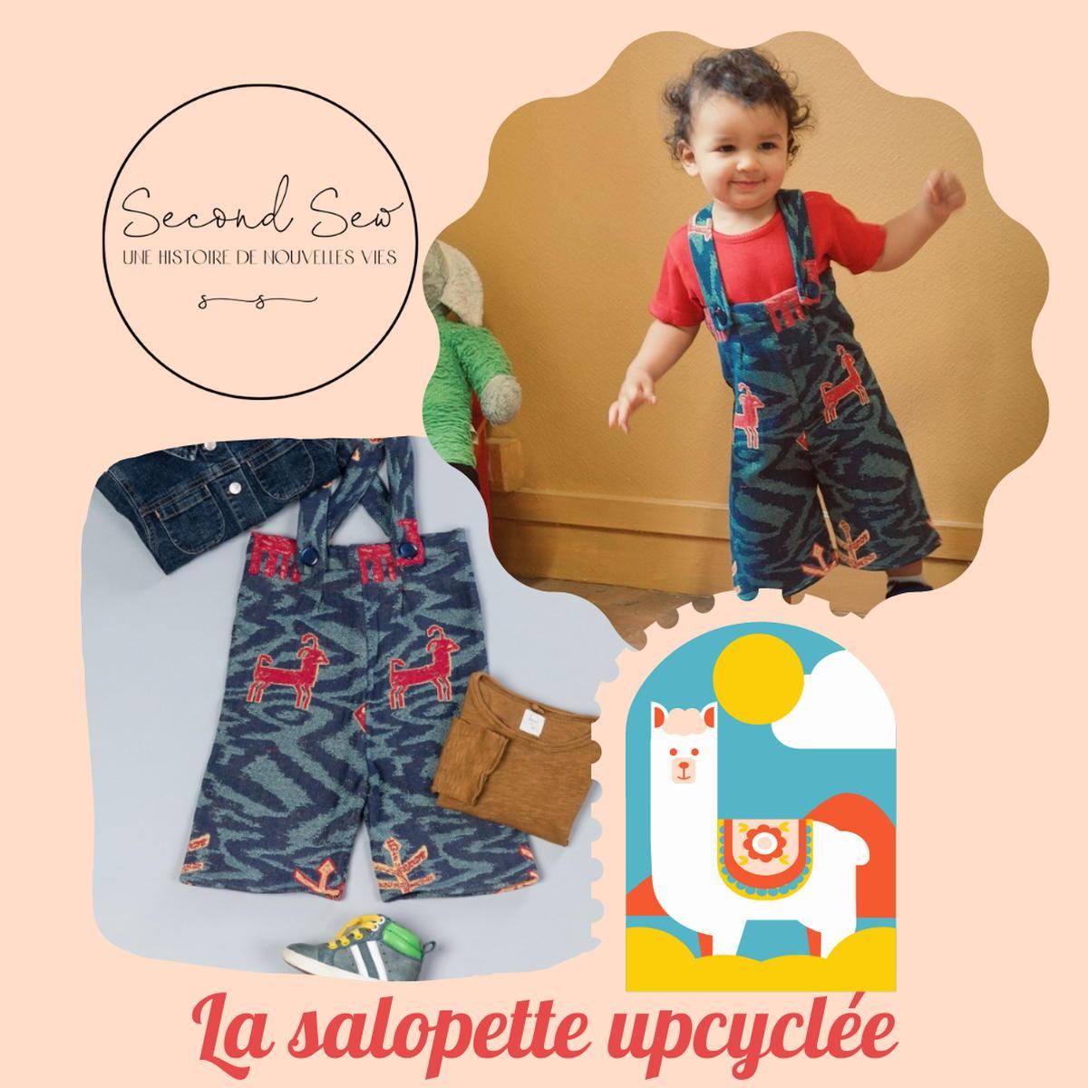 SloWeAre - 6 idées pour habiller les enfants - éco-responsble - salopette - garçon - Second Sew - - upcycling - Made in France.