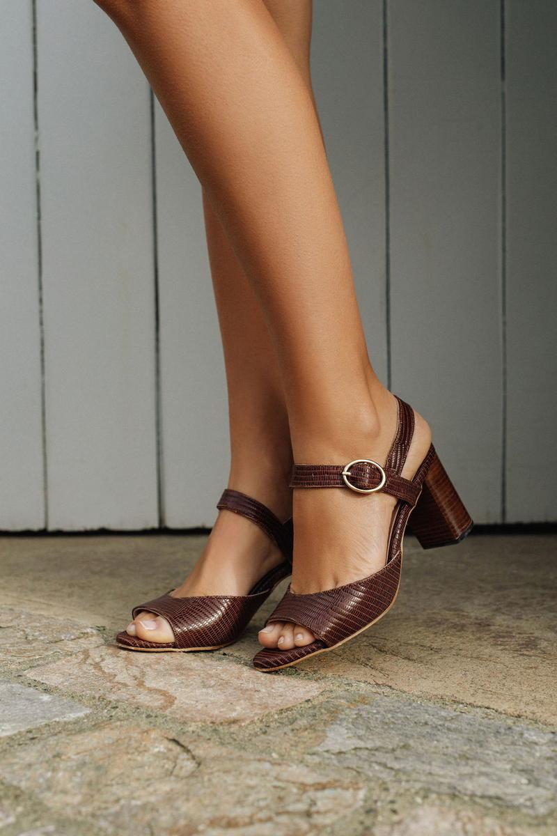 Unsibeaupas Joséphine Chocolat Zoom Chaussures portée
