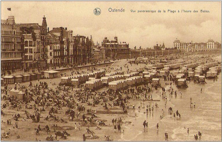 Carte postale - Vue panoramique - Ostende