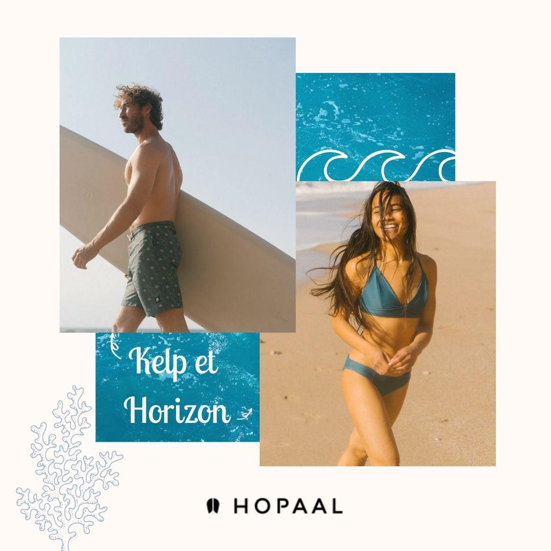 Hopaal - Maillot de bain - Bikini - écoresponsable - Newlife - Polyester recyclé - Made in France - Homme - Femme