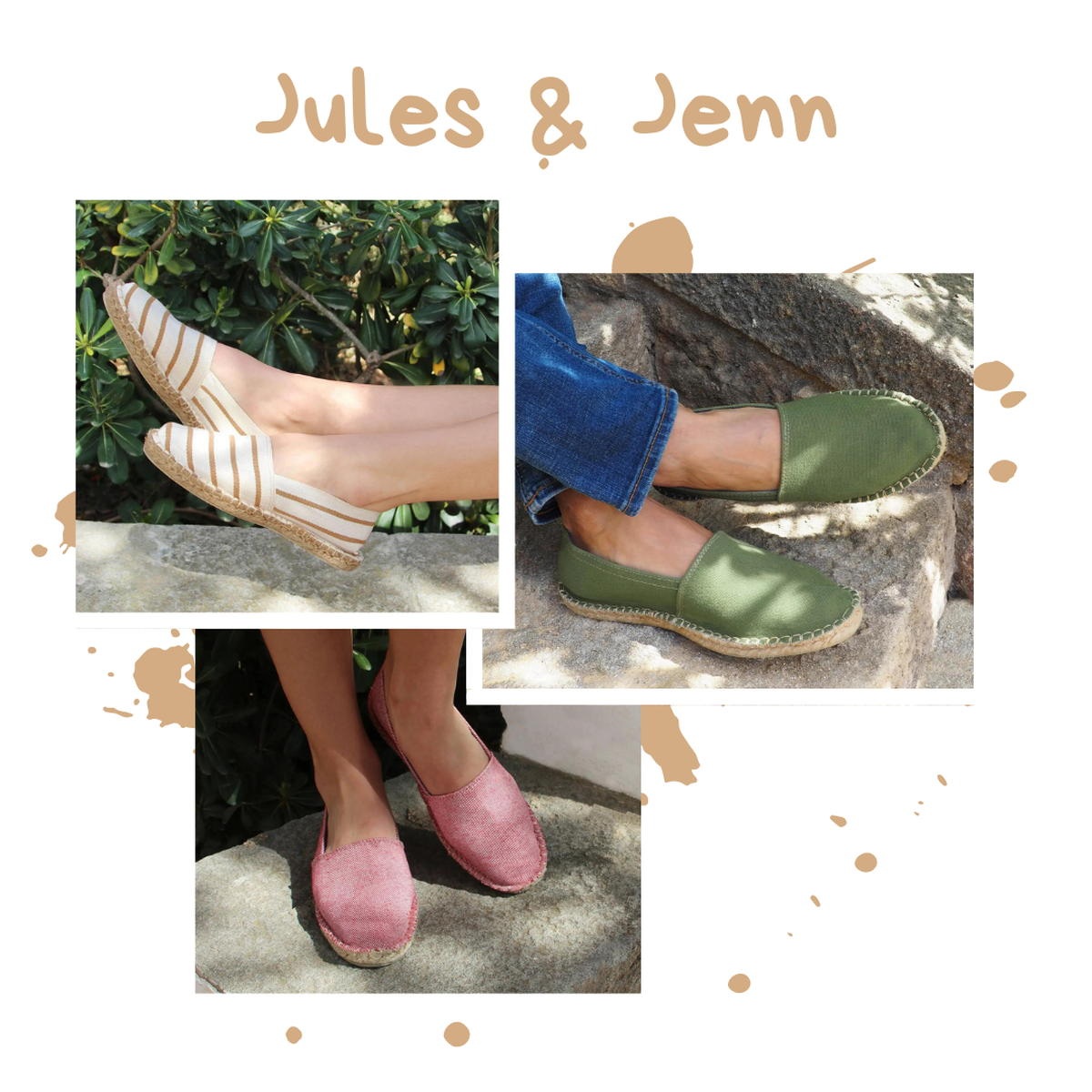 Jules Jenn - Espadrilles - rayures - coton - recyclé - semelle gomme - mixte - homme -femme - made in France