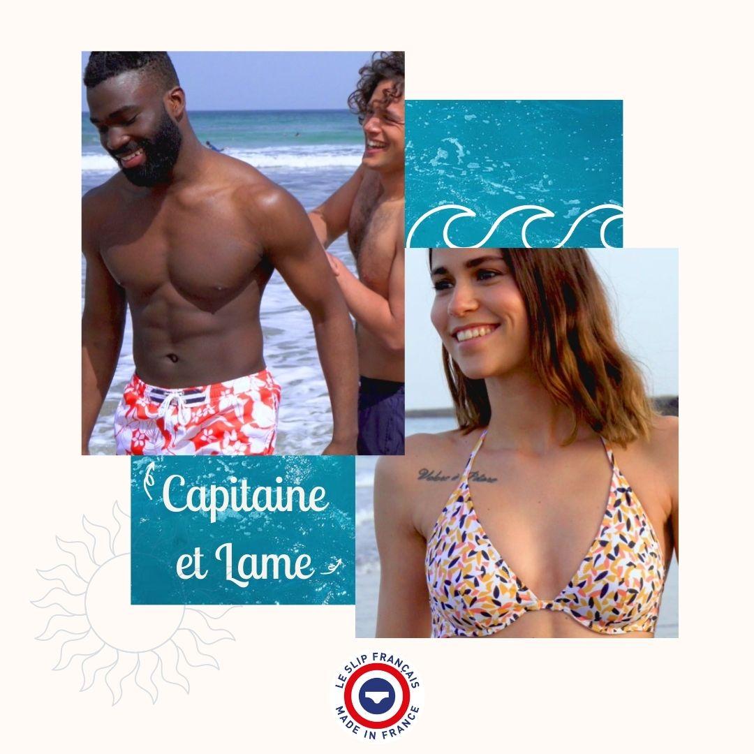 Le Slip Français - Maillot de bain - Lame - Onde - Capitaine - écoresponsable - Seaqual - Recyclé- Made in France - Homme - Femme