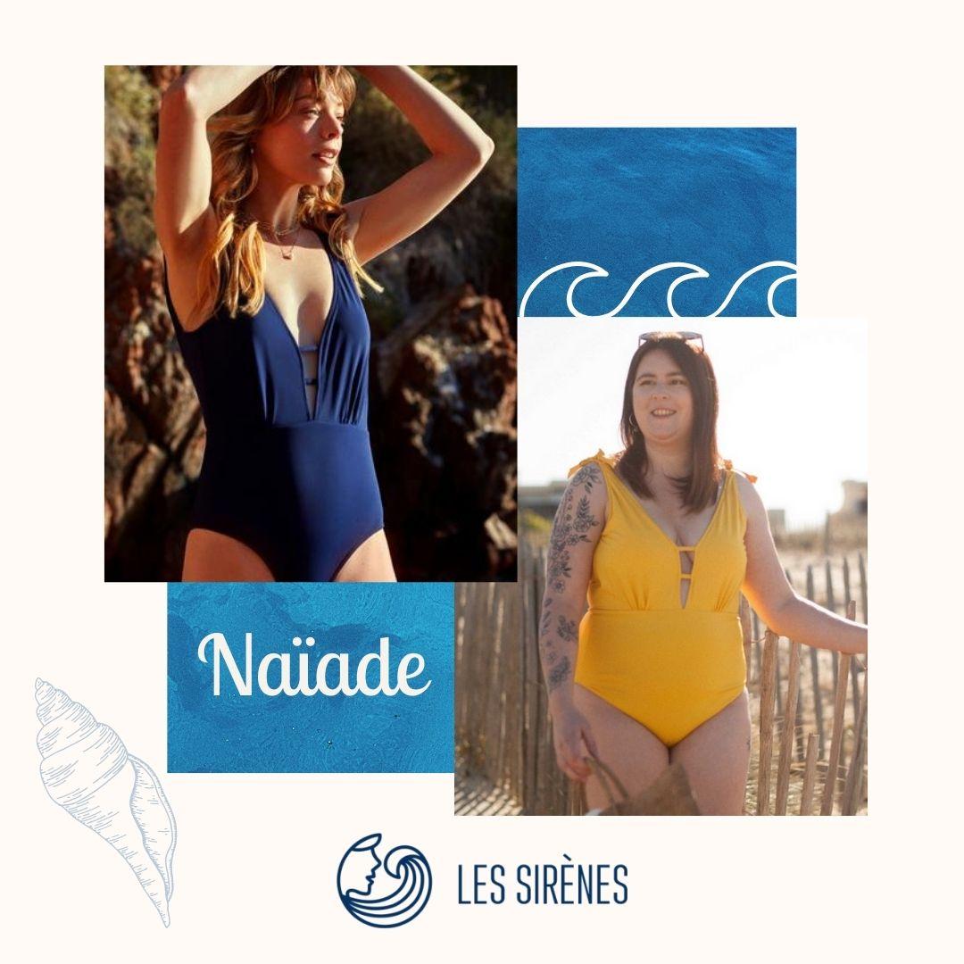 Les Sirènes - Maillot de bain - 1 pièce - écoresponsable - Econyl - Ecoyarn - Polyester recyclé - Grandes tailles - Femme