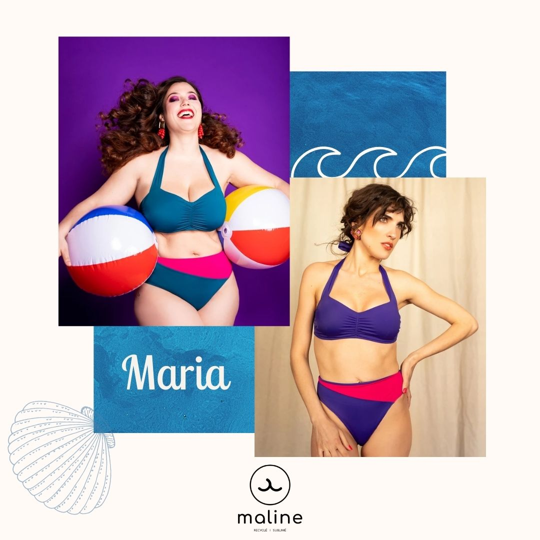 Maline - Maria - Maillot de bain - Bikini - écoresponsable - Econyl - Made in France - Femme