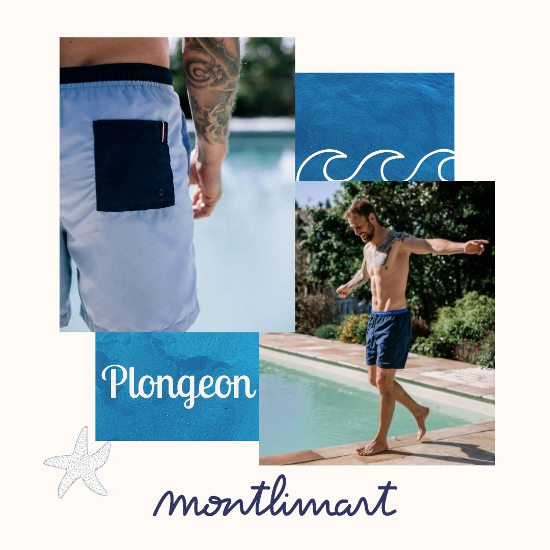 Montlimart - Maillot de bain - Plongeon - écoresponsable - Seaqual - GRS - OekoTex - Recyclé - Made in Europe - Homme