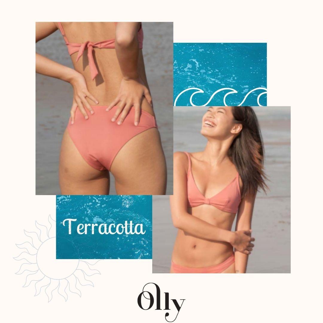 Olly - Maillot de bain - Bikini - Terracotta - écoresponsable - Seaqual - Made in Spain - Femme