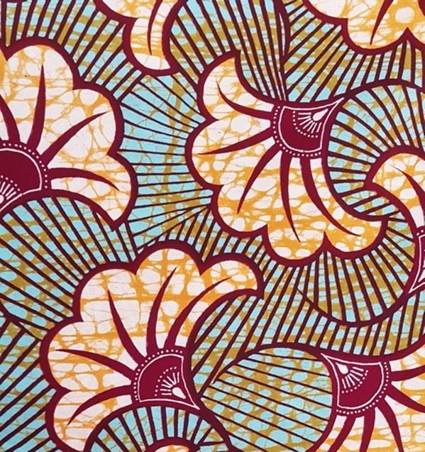 Voyage dans les coulisses de fabrication d'une basket Panafrica - Zoom sur un des motifs Wax utilisé par Panafrica
